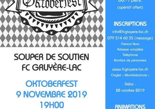 SOUPER DE SOUTIEN - 9 NOVEMBRE 2019